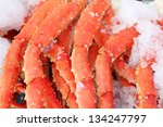 Fresh Crab Legs At A Seafood...