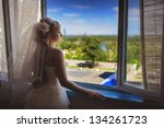 young beautiful bride waits for ... | Shutterstock . vector #134261723