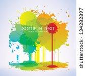 ink splashes background | Shutterstock .eps vector #134282897