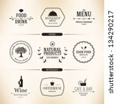Label set for restaurant menu design