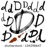 vector alphabet. hand drawn...   Shutterstock .eps vector #134298647