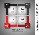 infographic design | Shutterstock .eps vector #134298947