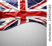 closeup of union jack flag on...