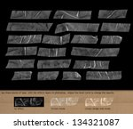 adhesive transparency tape  ... | Shutterstock . vector #134321087