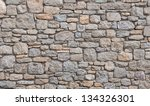 Background - a wall of rough stones. - stock photo