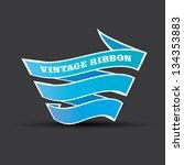 vintage styled blue paper...   Shutterstock .eps vector #134353883