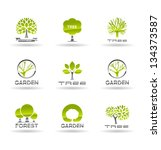 set of tree icons. vol 1. | Shutterstock .eps vector #134373587