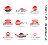 car service and repairing icon... | Shutterstock .eps vector #134373593