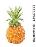 Ripe Baby Pineapple On White...