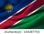 waving flag of namibia. design... | Shutterstock . vector #134387753