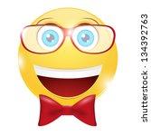 cheerful smiley   Shutterstock .eps vector #134392763