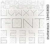 vector alphabet collection....   Shutterstock .eps vector #134418083