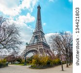 eiffel tower  view from champ... | Shutterstock . vector #134421803