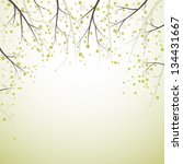 spring tree branches background ... | Shutterstock . vector #134431667
