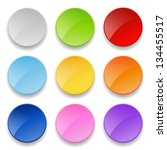 set of round buttons | Shutterstock .eps vector #134455517