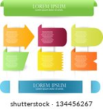 colorful web label  badge | Shutterstock .eps vector #134456267