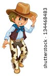 Illustration Of A Young Cowboy...