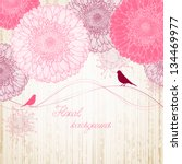hand drawing floral background... | Shutterstock .eps vector #134469977