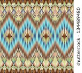 Ethnic seamless fashion pattern background - stock photo