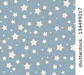 Seamless stars pattern. Vector linen texture. - stock vector