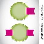 vector flower background | Shutterstock .eps vector #134504213