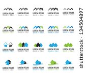 house icons   set   isolated on ... | Shutterstock .eps vector #134504897