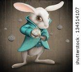 white elegance rabbit indicates ... | Shutterstock . vector #134514107