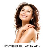 beauty woman. beautiful young... | Shutterstock . vector #134521247