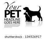 dog and cat silhouette template....