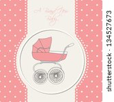 baby announcement card. vector... | Shutterstock .eps vector #134527673