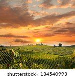 Chianti Vineyard Landscape In...
