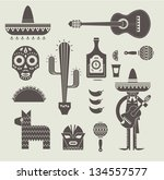 vecor illustration of various... | Shutterstock .eps vector #134557577