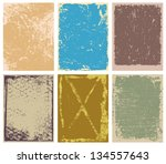 set of grunge backgrounds ... | Shutterstock . vector #134557643