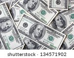 a lot of dollars for background - stock photo