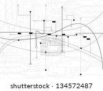 abstract background vector | Shutterstock .eps vector #134572487