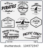 vector retro surf label set. | Shutterstock .eps vector #134572547