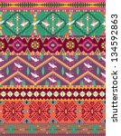 seamless colorful aztec pattern ... | Shutterstock .eps vector #134592863