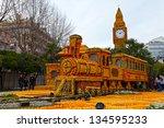 menton  france   february 27 ...   Shutterstock . vector #134595233