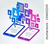 social icon group element... | Shutterstock .eps vector #134603243