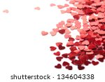 hearts confetti - stock photo