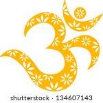 om mantra  flowers  pattern  ...   Shutterstock .eps vector #134607143