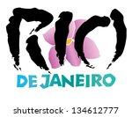rio de janeiro international... | Shutterstock .eps vector #134612777