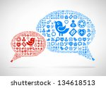 social media concept. cloud... | Shutterstock . vector #134618513