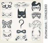 Illustration Of Fun Face Masks