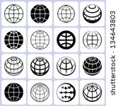 globe icons set | Shutterstock .eps vector #134643803