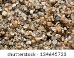 large crystals of clean river... | Shutterstock . vector #134645723