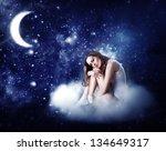 Young Beautiful Woman Sleeping...