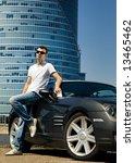 handsome man standing near the...   Shutterstock . vector #13465462