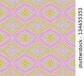 abstract vector seamless ikat... | Shutterstock .eps vector #134655353