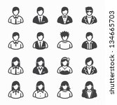 user icons and people icons... | Shutterstock .eps vector #134665703